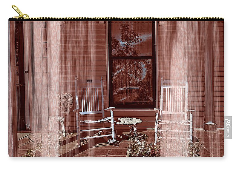 Porch - Dreaming Carry-all Pouch featuring the photograph Porch - Dreaming by Liane Wright