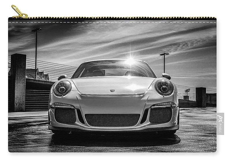 Porsche Carry-all Pouch featuring the digital art Porsche 911 Gt3 by Douglas Pittman