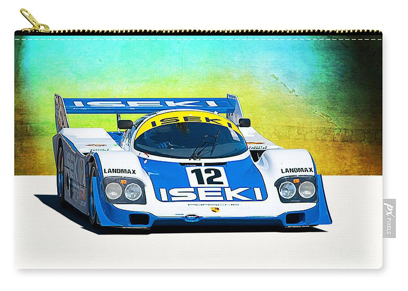 Porsche Carry-all Pouch featuring the photograph Porsche 956c - 118 by Stuart Row