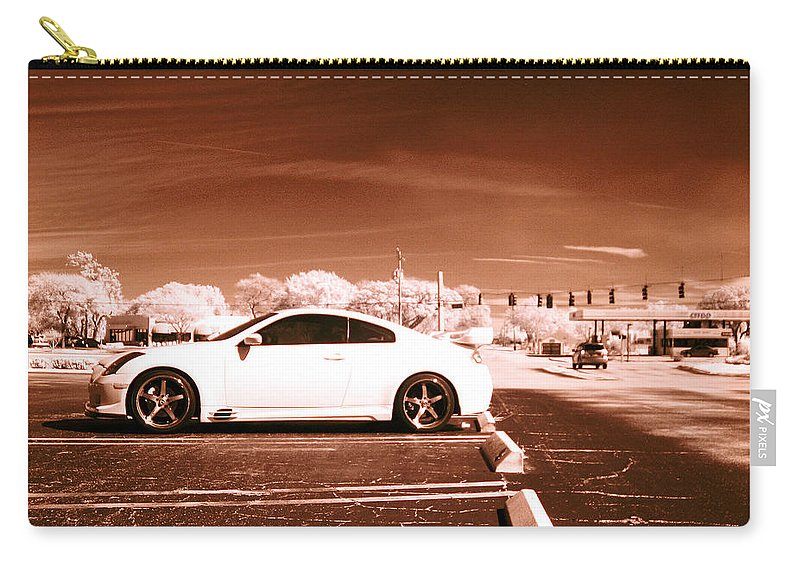 America Carry-all Pouch featuring the photograph Porsche Car Side Profile Brown Near Infrared by Sally Rockefeller