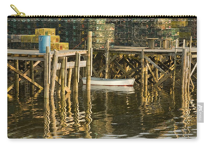 Maine Carry-all Pouch featuring the photograph Port Clyde Maine Small Boat And Harbor by Keith Webber Jr