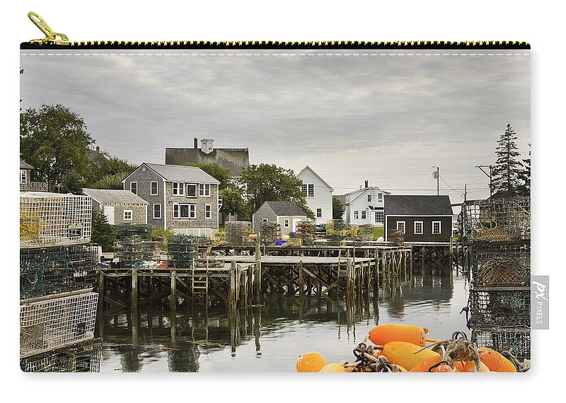Maine Carry-all Pouch featuring the photograph Port Clyde On The Coast Of Maine by Keith Webber Jr