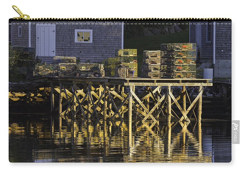 Maine Carry-all Pouch featuring the photograph Port Clyde Pier On The Coast Of Maine by Keith Webber Jr