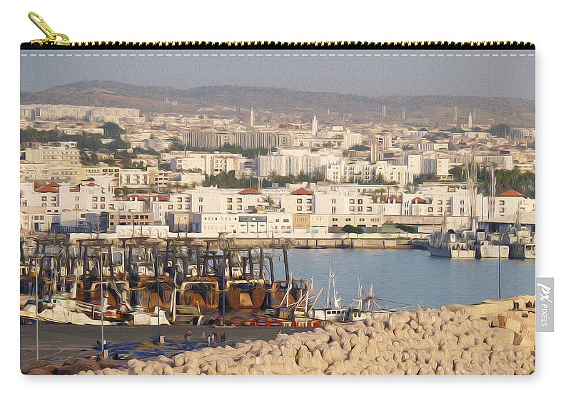 Agadir Carry-all Pouch featuring the photograph Port Of Agadir Morocco by Tracy Winter