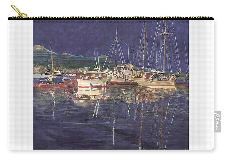 I Just Ordered A Shower Curtain For Myself With This Image On It Carry-all Pouch featuring the painting Stary Port Orchard Night by Jack Pumphrey
