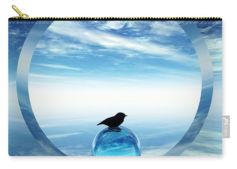 Portal Carry-all Pouch featuring the digital art Portal To Peace by Richard Rizzo