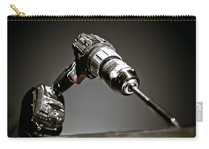 Drill Bit Carry-all Pouch featuring the photograph Porter-cable Drill by Sennie Pierson