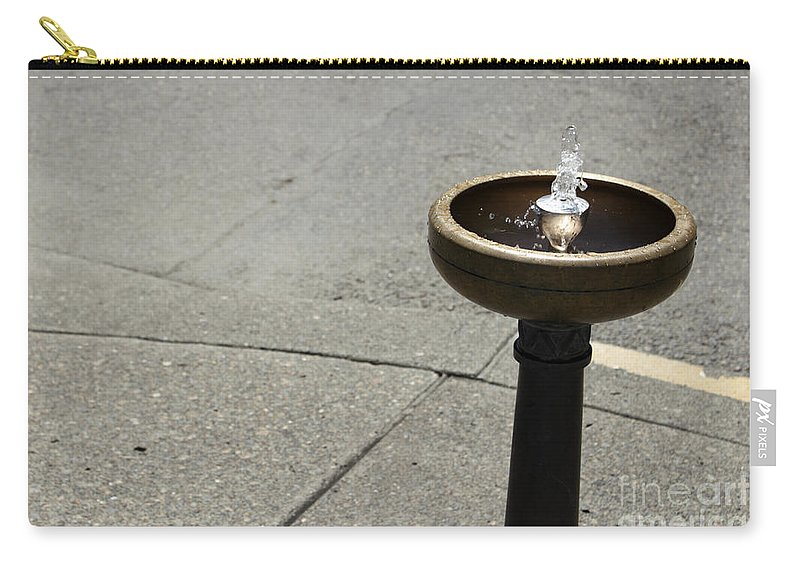 Portland Carry-all Pouch featuring the photograph Portland Drinking Water Fountain by Lee Serenethos