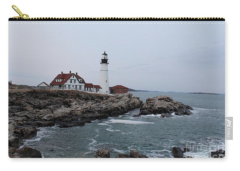 Lighthouse Carry-all Pouch featuring the photograph Portland Head Lighthouse 8557 by Joseph Marquis