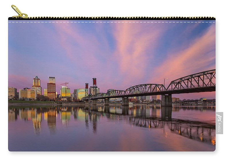 Eastbank Esplanade Carry-all Pouch featuring the photograph Portland Pizzazz by Patricia Davidson