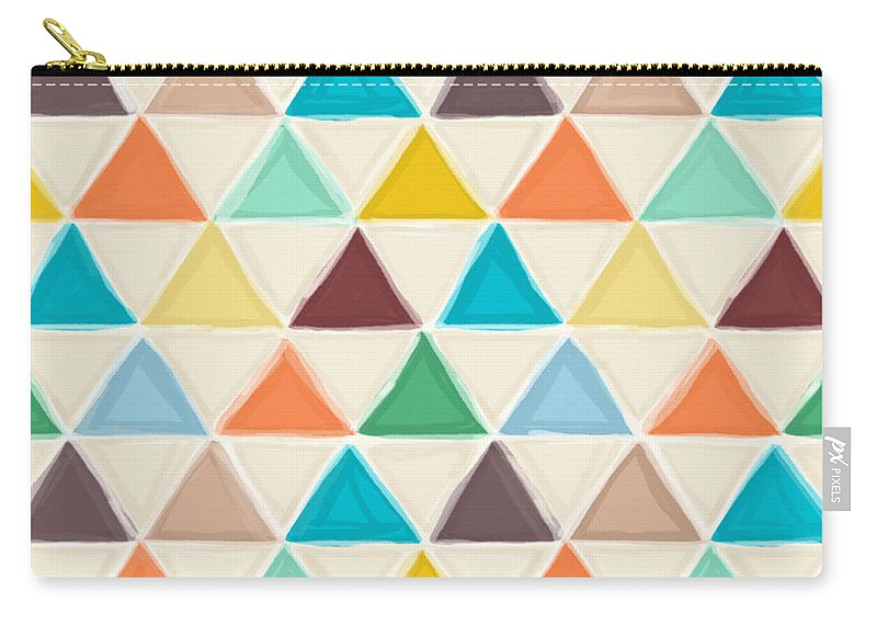 Geo Carry-all Pouch featuring the drawing Portland Triangles by MGL Meiklejohn Graphics Licensing