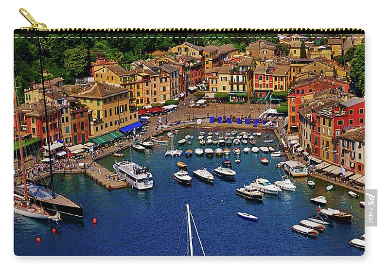 Treetop Carry-all Pouch featuring the photograph Portofino by Roman Makhmutov