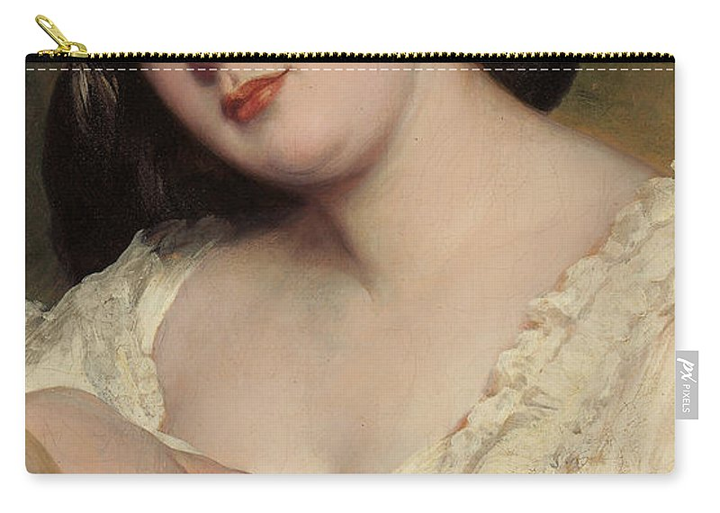 Portrait Of A Lady Carry-all Pouch featuring the painting Portrait Of A Lady by Franz Xaver Winterhalter