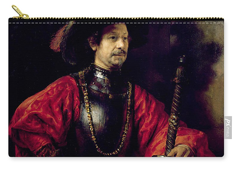 Sword Carry-all Pouch featuring the painting Portrait Of A Man In Military Costume by Rembrandt Harmensz. van Rijn