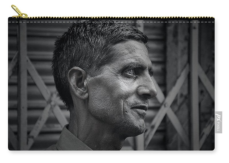 Men Carry-all Pouch featuring the photograph Portrait Of A Stranger by Valerie Rosen