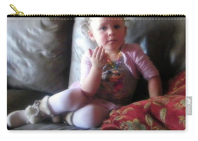 Portrait Carry-all Pouch featuring the photograph Portrait Of Amaya by Bobbee Rickard