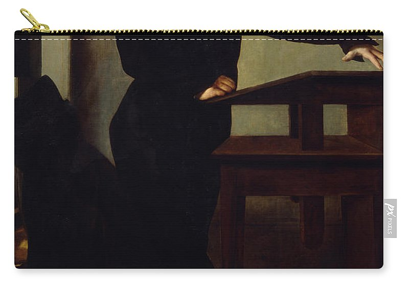 Male Carry-all Pouch featuring the painting Portrait Of Eduard Gans 1829 by Wilhelm Hensel