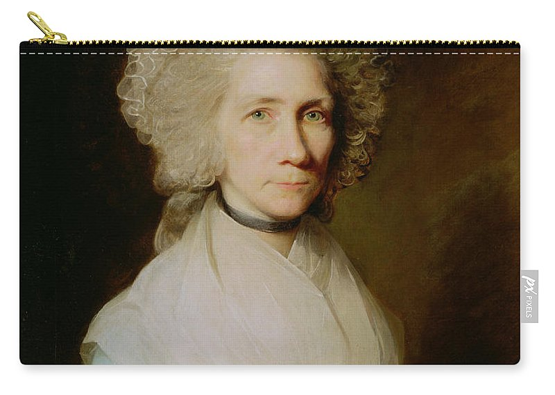 C18th Carry-all Pouch featuring the painting Portrait Of Elizabeth Caldwell by Gilbert Stuart