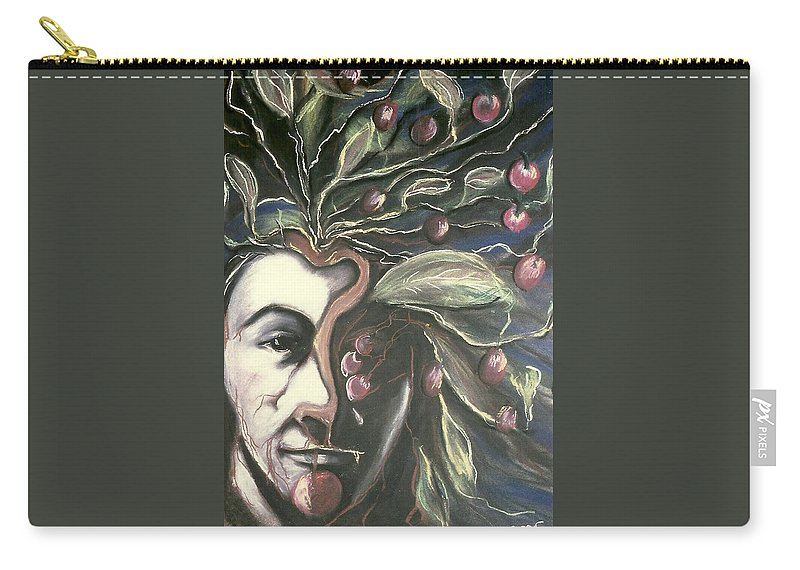 Pastels Carry-all Pouch featuring the pastel Self Portrait by Carrie Maurer