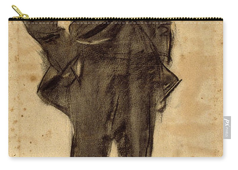 Ramon Casas Carry-all Pouch featuring the drawing Portrait Of Ezequiel Boixet by Ramon Casas