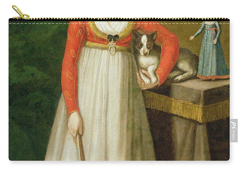 Female Carry-all Pouch featuring the painting Portrait Of Isidore, 1810 by Mexican School