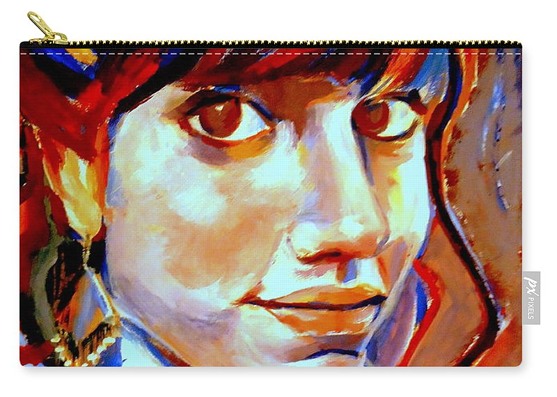 Nude Figures Carry-all Pouch featuring the painting Portrait Of Ivana by Helena Wierzbicki