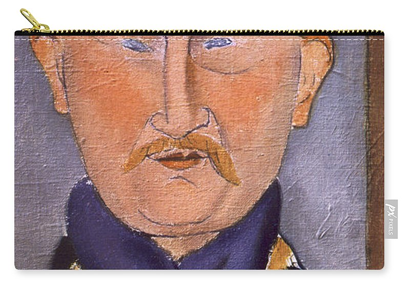 Artist Carry-all Pouch featuring the painting Portrait Of Leon Bakst by Amedeo Modigliani