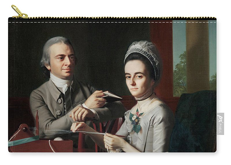 John Singleton Copley Carry-all Pouch featuring the painting Portrait Of Mr And Mrs Thomas Mifflin by John Singleton Copley