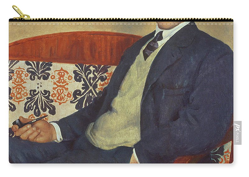 Piotr Leonidovich Carry-all Pouch featuring the painting Portrait Of Peter Kapitza 1926 by Boris Mihajlovic Kustodiev