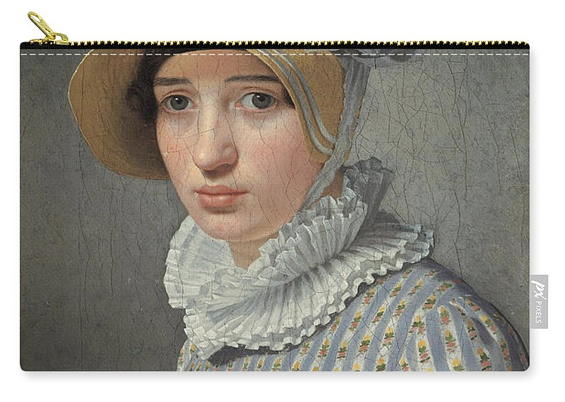 Christoffer Wilhelm Eckersberg Carry-all Pouch featuring the painting Portrait Of The Model Maddalena Or Anna Maria Uhden by Christoffer Wilhelm Eckersberg