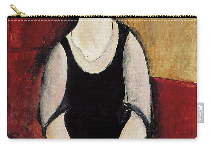 Female Carry-all Pouch featuring the painting Portrait Of Thora Klinchlowstrom by Amedeo Modigliani