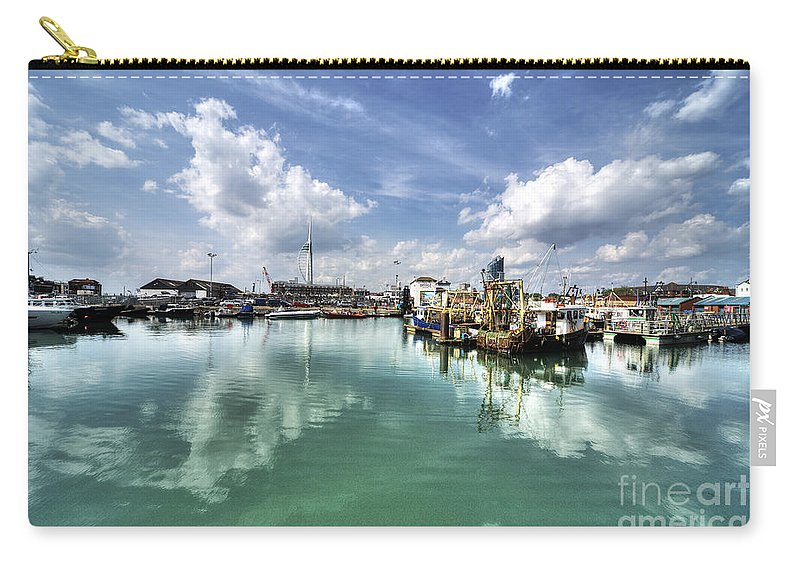 Portsmouth Carry-all Pouch featuring the photograph Portsmouth Old Harbour by Rob Hawkins