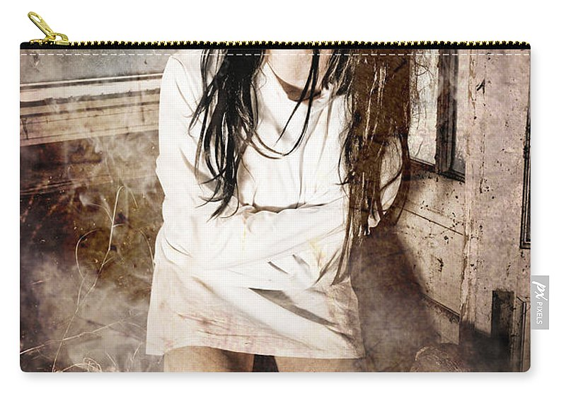 Halloween Carry-all Pouch featuring the photograph Possessed by Jt PhotoDesign