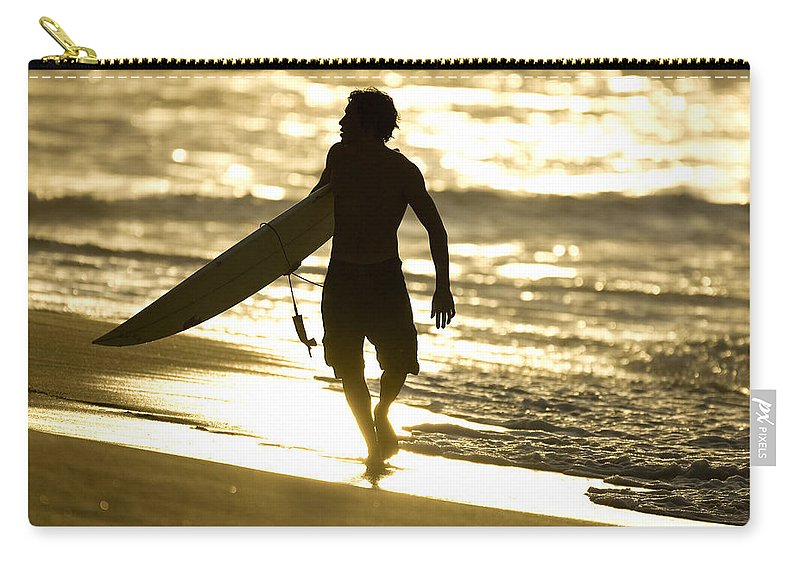 Surf North Shore Carry-all Pouch featuring the photograph Post Surf Gold by Sean Davey