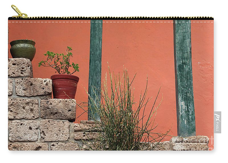 Pot Plant Carry-all Pouch featuring the photograph Pot Plants by James Brunker
