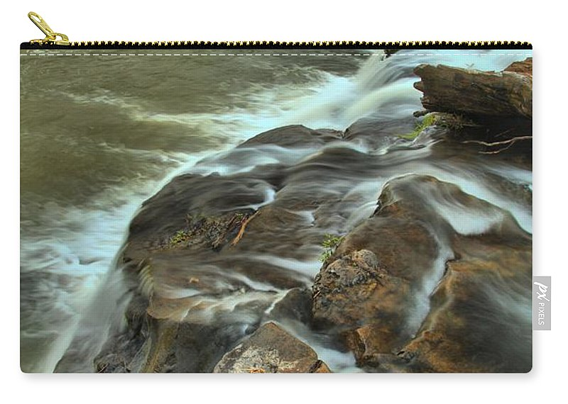 West Virginia Waterfalls Carry-all Pouch featuring the photograph Pouring Through The New River by Adam Jewell