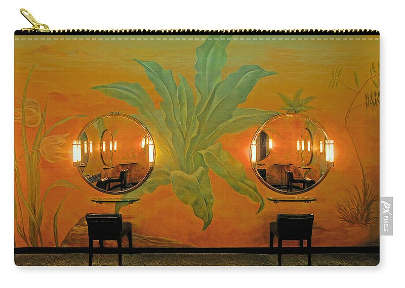 Radio City Music Hall Carry-all Pouch featuring the photograph Powder Room Radio City Music Hall by Dave Mills