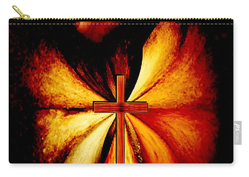 Payers Carry-all Pouch featuring the digital art Power Of Prayer by Paula Ayers