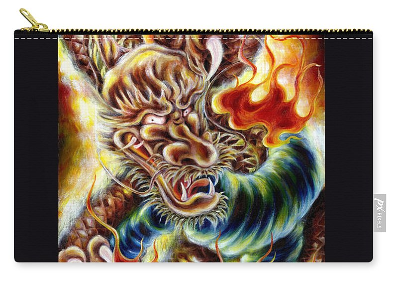 Caving Carry-all Pouch featuring the painting Power Of Spirit by Hiroko Sakai
