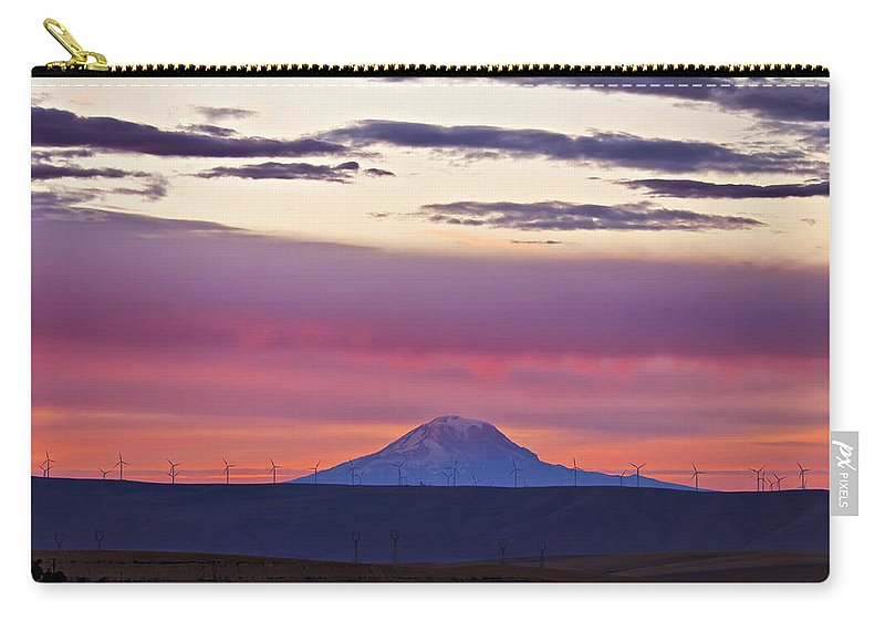 Mt Hood Carry-all Pouch featuring the photograph Powerful Sunset by Albert Seger