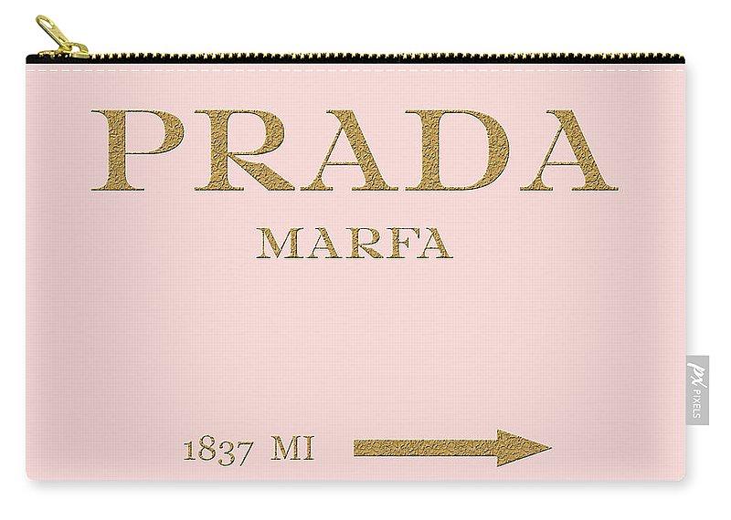 Prada Carry-all Pouch featuring the digital art Prada Marfa Mileage by Edit Voros