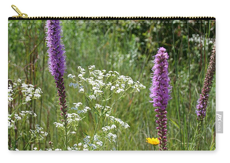Flower Carry-all Pouch featuring the photograph Prairie Blossoms by Susan Herber