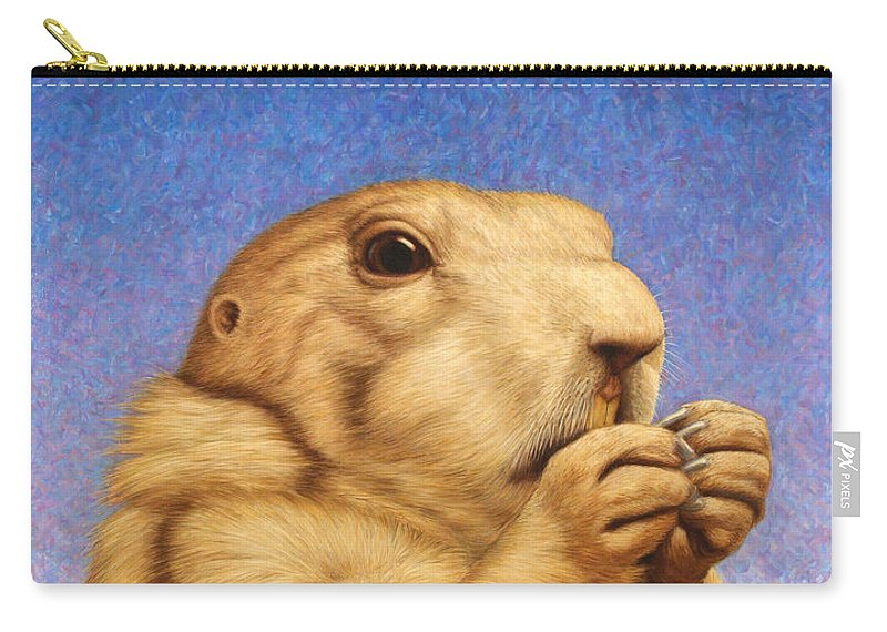 Prairie Dog Carry-all Pouch featuring the painting Prairie Dog by James W Johnson