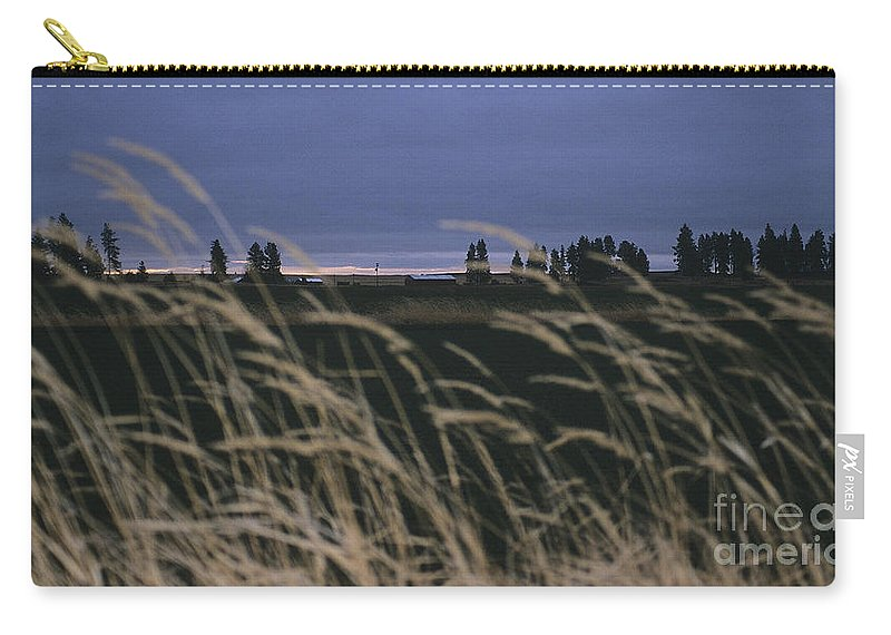 Prairie Carry-all Pouch featuring the photograph Prairie Morning by Sharon Elliott
