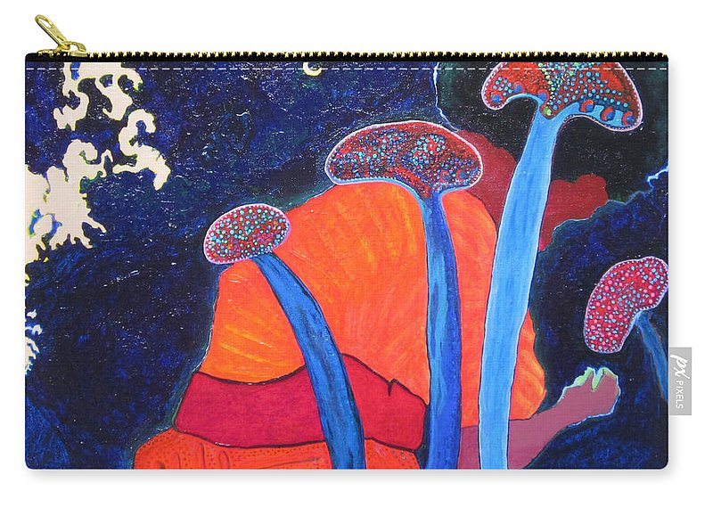 Blue Carry-all Pouch featuring the painting Prayers Of Peace by Catherine Helmick