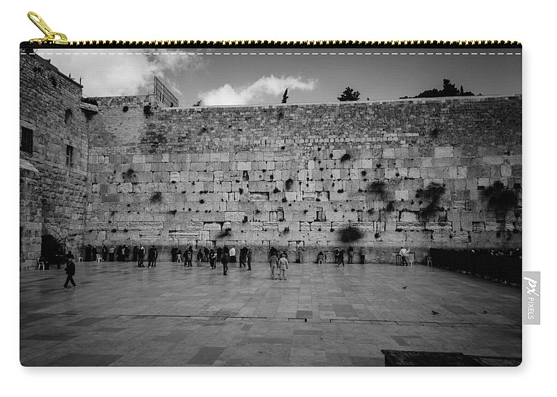 Western Wall Carry-all Pouch featuring the photograph Praying At The Western Wall by David Morefield