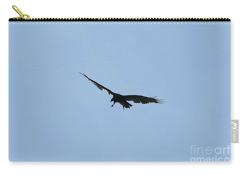 Vulture Carry-all Pouch featuring the photograph Pre-capture by Neal Eslinger