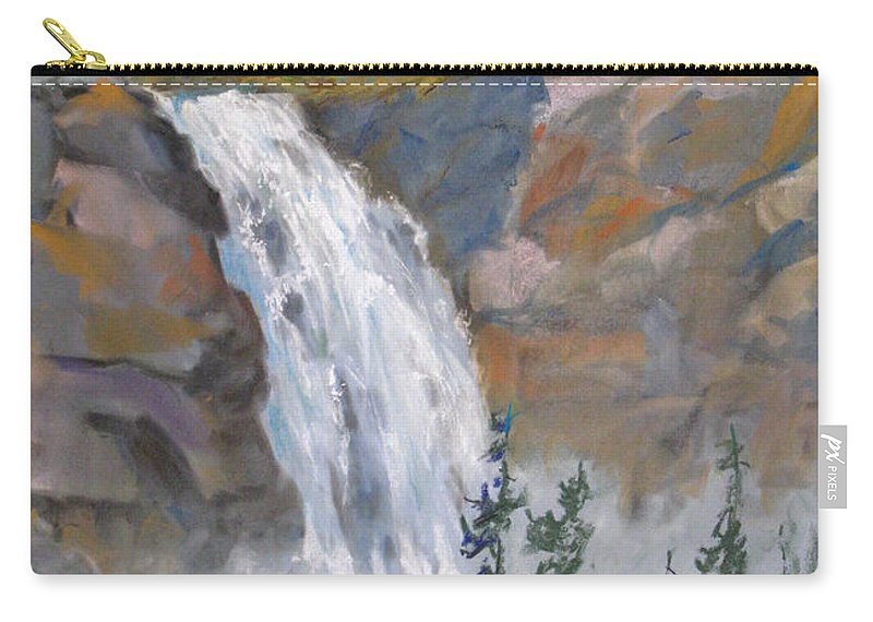 Background Carry-all Pouch featuring the painting Precipitous Falls by Mohamed Hirji