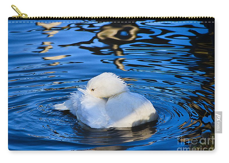 Duck Carry-all Pouch featuring the photograph Preening by Susie Peek