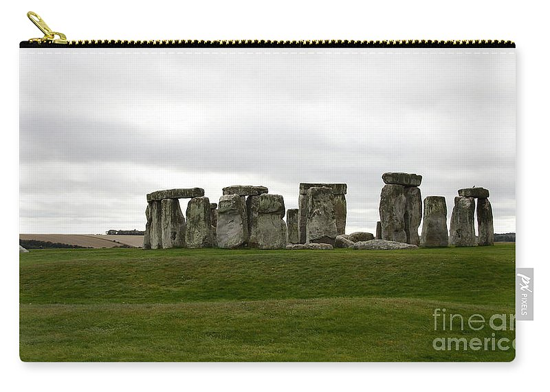 Prehistoric Monument Carry-all Pouch featuring the photograph Prehistoric Monument - Stone Henge by Christiane Schulze Art And Photography